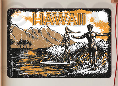 AA706 Surfing Longboards - Aluminum Novelty Metal Sign