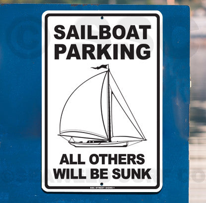 AA9 Sailboat Parking - Seaweed Surf Sign Co