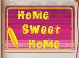 AA90 Home Sweet - Aluminum Novelty Metal Sign