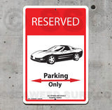 AA94 Corvette Parking Only - Seaweed Surf Sign Co