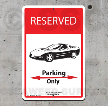 AA94 Corvette Parking Only