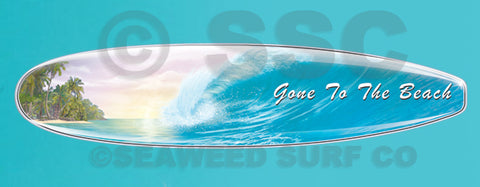 Gone to the Beach Wave Board Wall Decal
