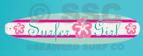 Surfer Girl Board Wall Decal