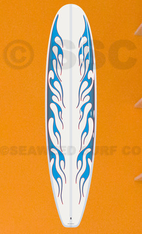 DMD007 Blue Flames Board - Seaweed Surf Co