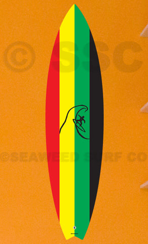 DMD008 Rasta Board - Seaweed Surf Co
