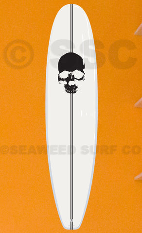 Skull Board Wall Decal