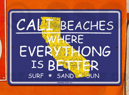SF107 Cali Beaches Everythong - Seaweed Surf Sign Co