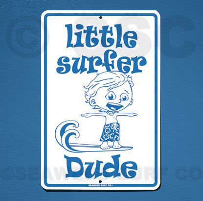 SF13 Little Surfer Dude - Seaweed Surf Sign Co