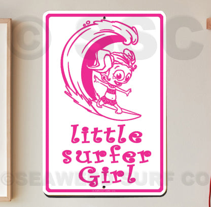 SF14 Little Surfer Girl - Seaweed Surf Sign Co