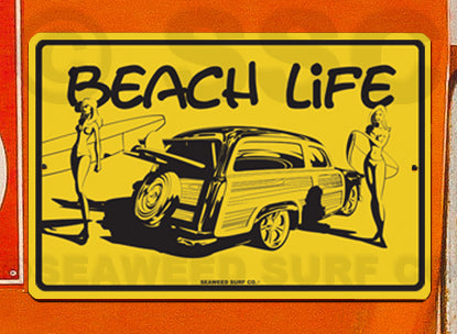 SF26 Beach Life - Aluminum Novelty Metal Sign
