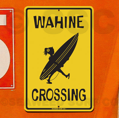 SF31A Wahine Xing - Aluminum Novelty Metal Sign