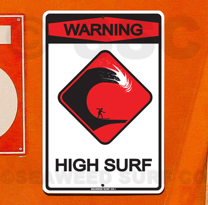 SF44 Warning High Surf - Seaweed Surf Co