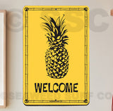 SF45 Welcome Pineapple - Seaweed Surf Sign Co