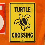 SF52 Turtle Crossing - Aluminum Novelty Metal Sign