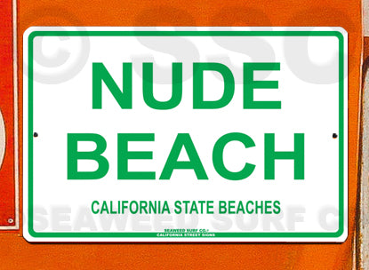 SF57 Nude Beach California - Aluminum Novelty Metal Sign