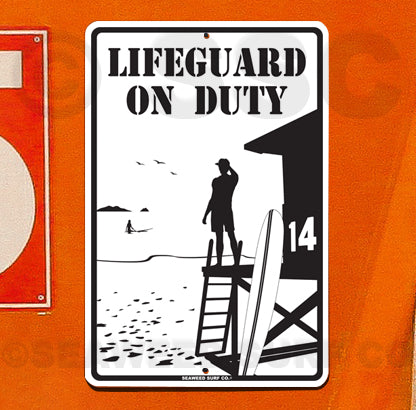 SF66 Lifeguard On Duty - Seaweed Surf Sign Co