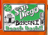 SF86 San Diego Bikini Beach - Aluminum Novelty Metal Sign