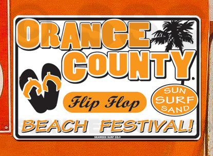 SF87 Orange County Flip Flop - Seaweed Surf Co