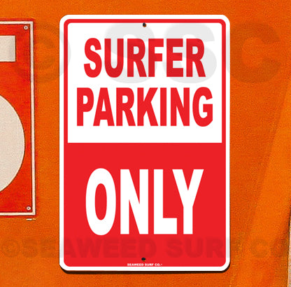 SF91 Surfer Parking - Aluminum Novelty Metal Sign