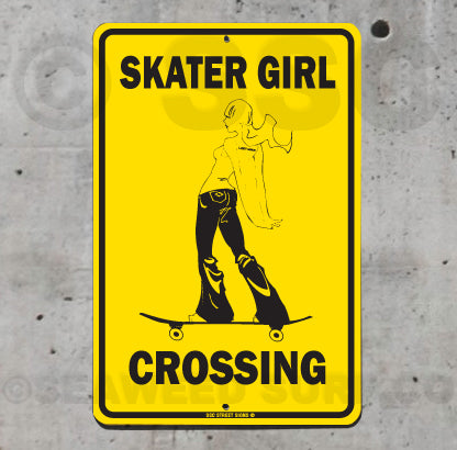 SK2 Skater Girl Crossing - Seaweed Surf Co