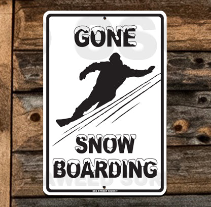 SN12 Gone Snowboarding - Seaweed Surf Sign Co