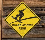 SN14 BOARD at Own Risk - Seaweed Surf Sign Co