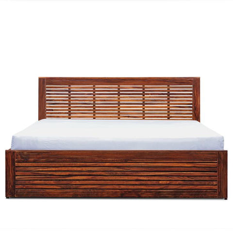Acapulco Queen Size bed in Sheesham Wood with Box Storage