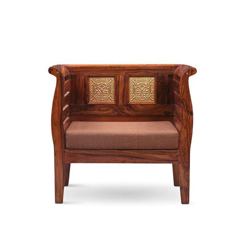 Trisha Single Seater Sofa Walnut