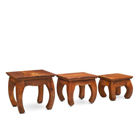 Elspeth Nest of Table 3 Pcs Walnut