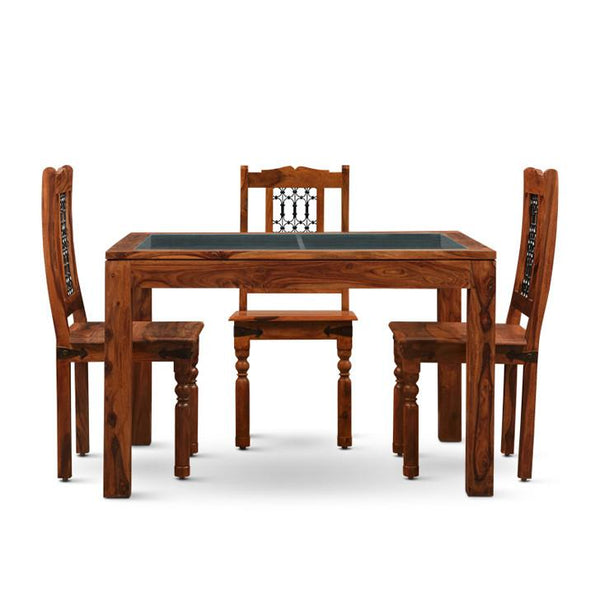 Carlsbade Four Seater Dining Set Walnut