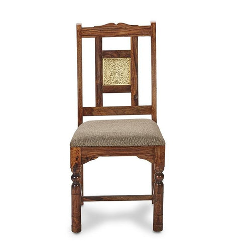 Natalie Dining Chair With Golden Plate