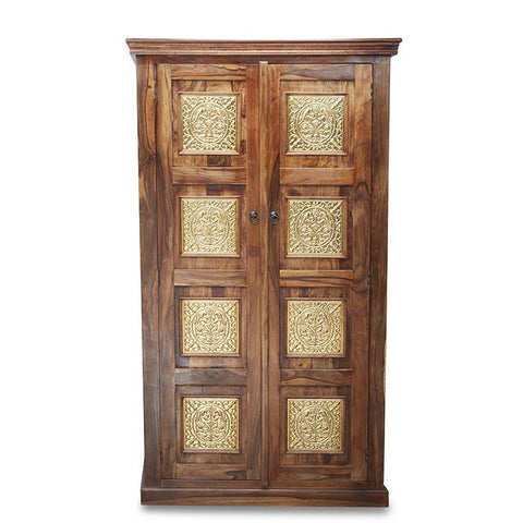 Assandra Wardrobe With Golden Brass Plate