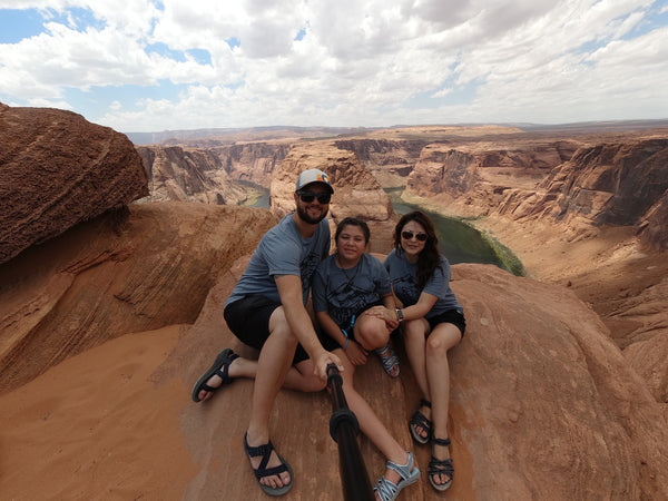 josh lepick and family at the grand canyon