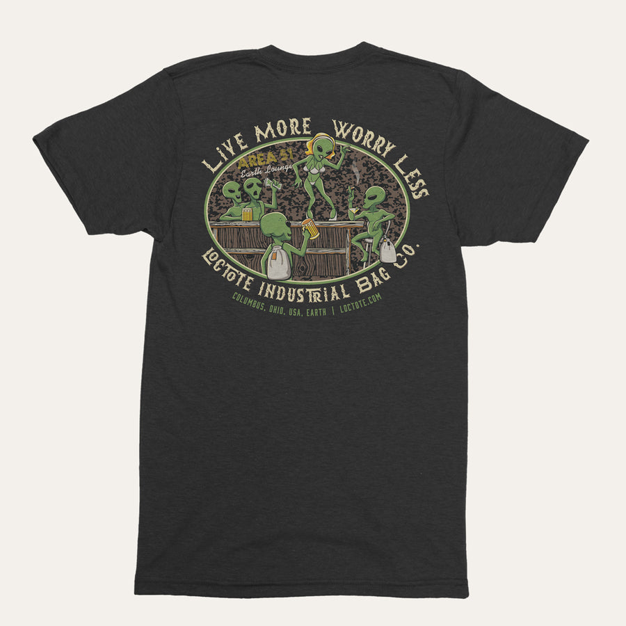 Alien Live More Worry Less Tee