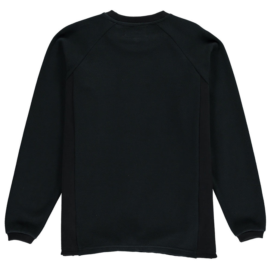 organic cotton sweatshirt mens texture fabric black lyme terrace