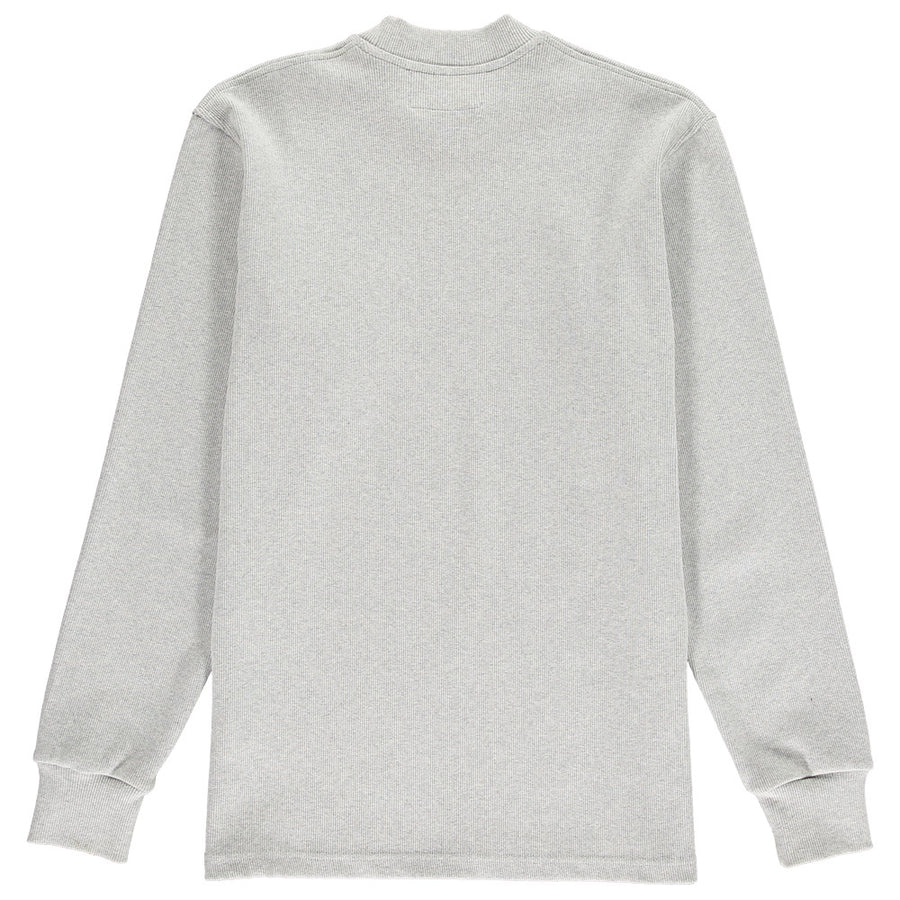 organic cotton rib mock neck lyme terrace