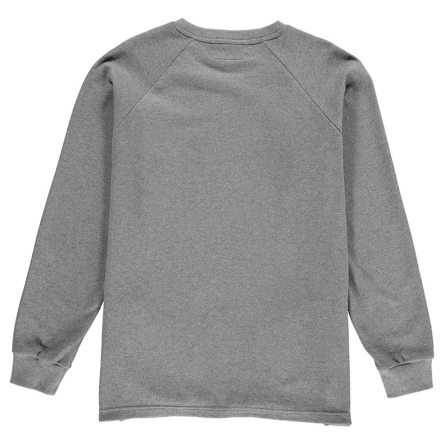 Grey Organic Cotton Texture Sweater