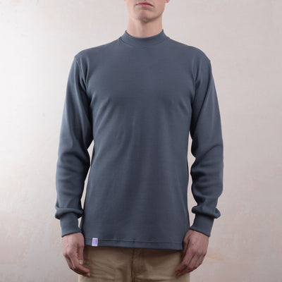 organic rib mock neck lyme terrace