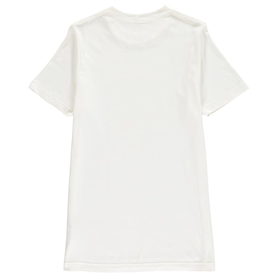 Organic Cotton and Bamboo T-Shirt Natural White