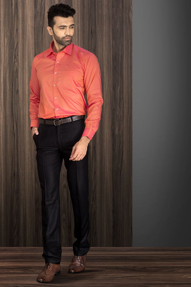 ORANGE FORMAL SHIRT