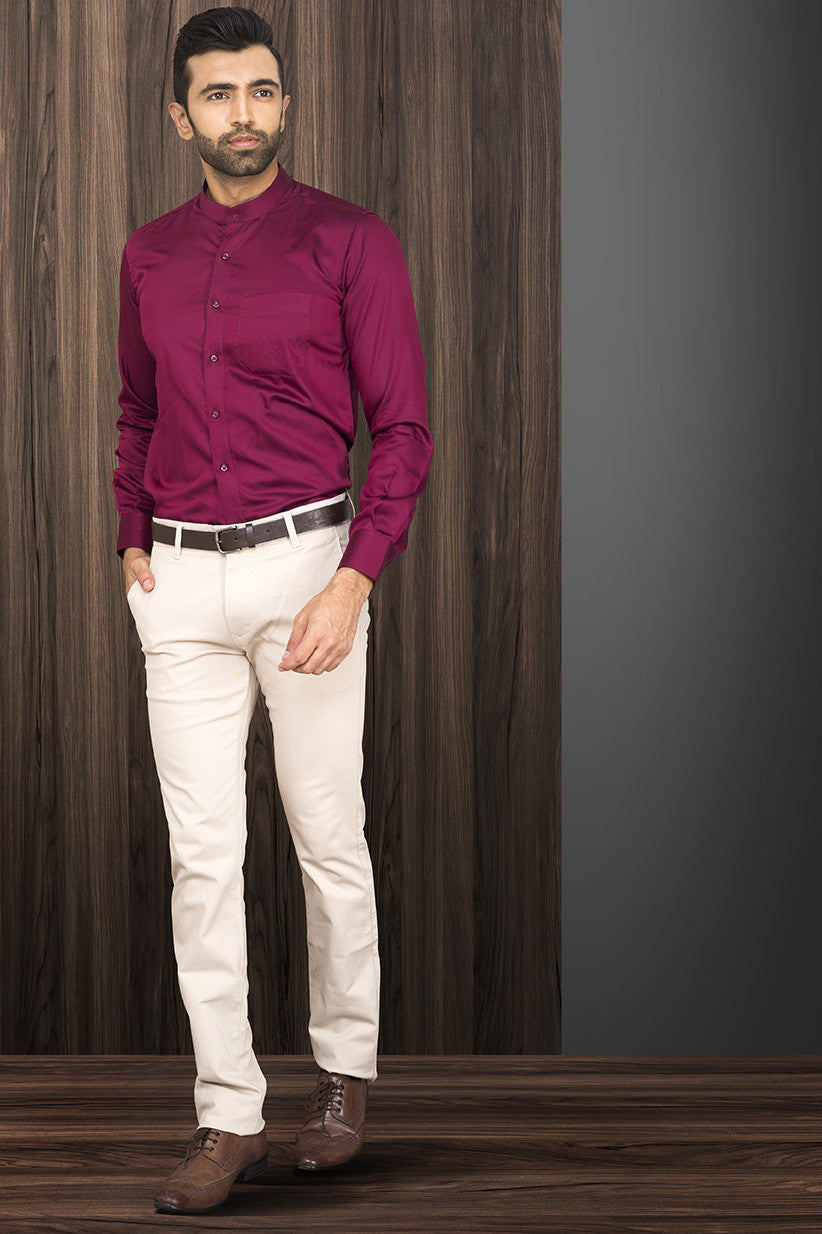 MAROON PARTY-WEAR SHIRT