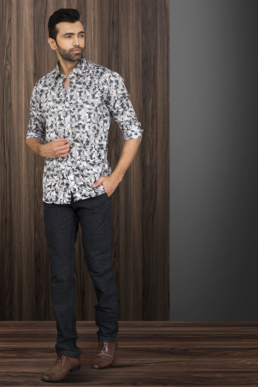 PRINTED PARTY-WEAR SHIRT