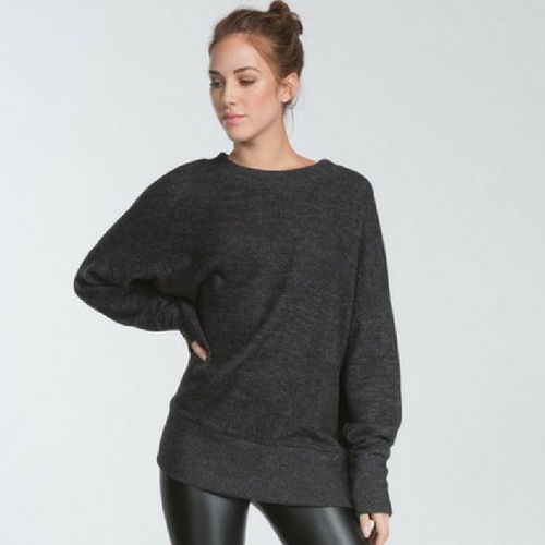 GO BLACK Heather Sweater
