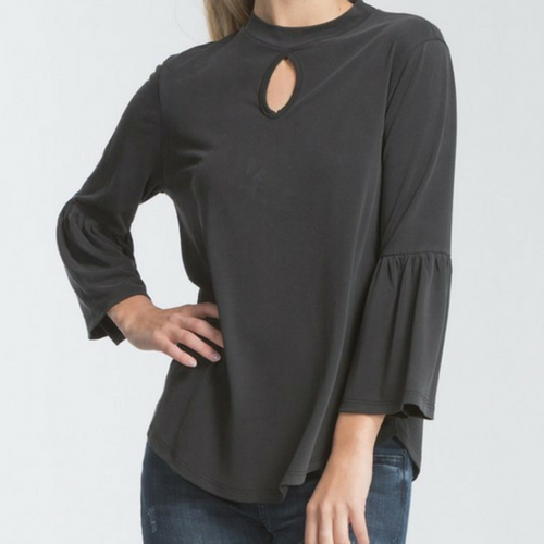 GO BLACK Bell Sleeve