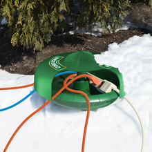 Twist and Seal Cord Dome Multiple Outdoor Extension Cord and Power Strip Protection In Action