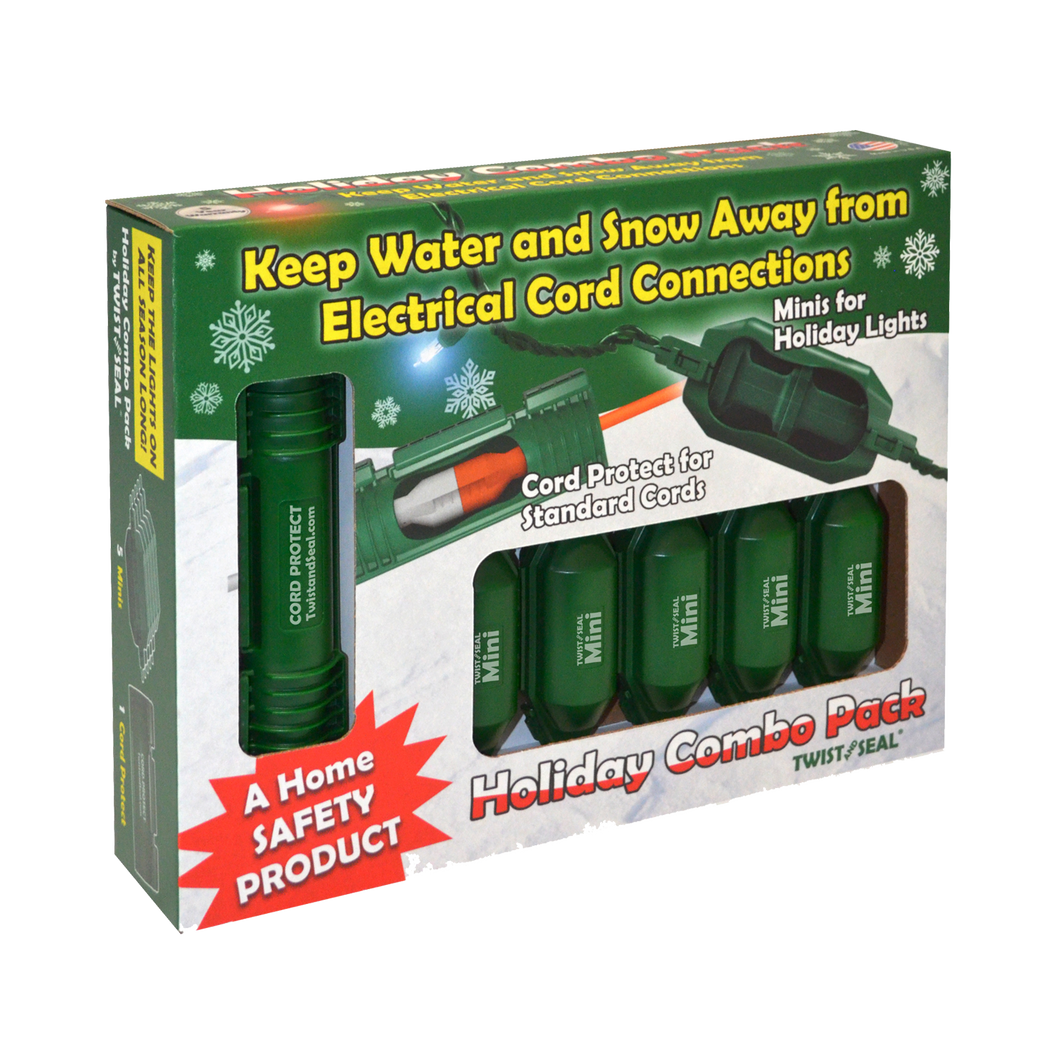 Twist and seal holiday light safety combo pack