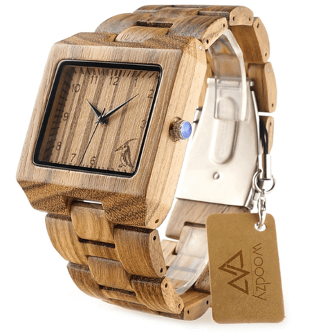 Men's Handcrafted 100% Natural Wooden Watch // Personalized Engravings // Bray