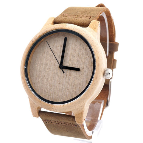 Men's Handcrafted 100% Natural Wooden Watch // Personalized Engravings // Sandalwood // Leather Strap // Midgar