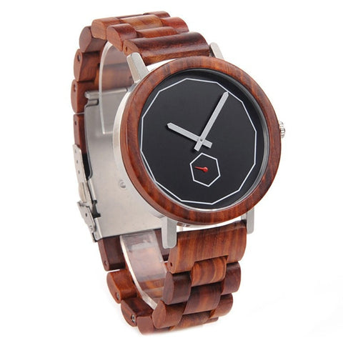 Unisex Handcrafted 100% Natural Wooden Watch // Personalized Engravings // Redwood // Adonis - Woodzystore