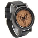 Men's Handcrafted 100% Natural Wooden Watch // Personalized Engravings // Leather Strap // Chaos - Woodzystore